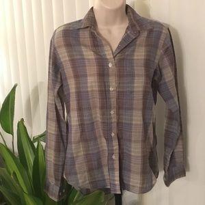 Vintage Western Plaid Shirt Size Small
